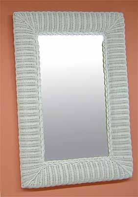 Rectangular Wicker Mirror