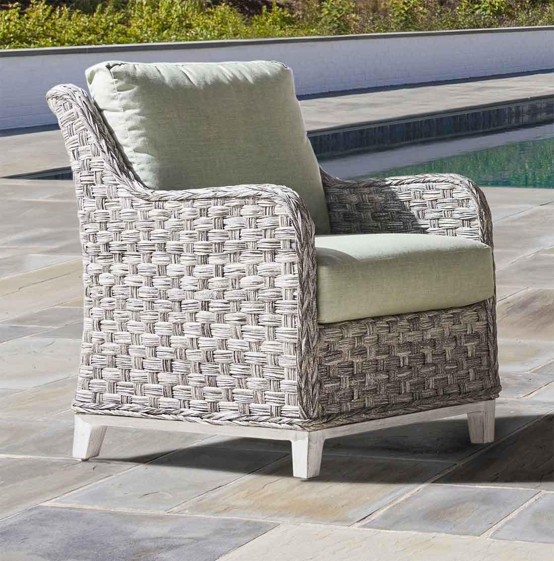 ... Canyon Lake Resin Wicker Lounge Chair   GRANITE