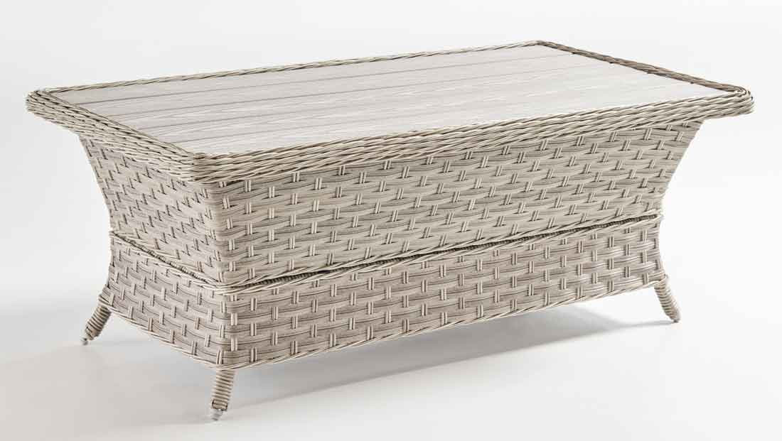 ... Countryside Resin Wicker Poly Slat Cocktail Table (Not Sold Alone)    PEBBLE