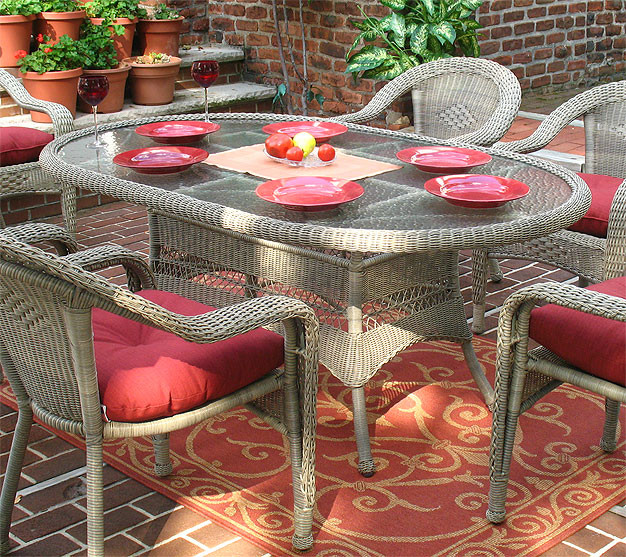 Resin Wicker Dining Table 72 Quot Oval