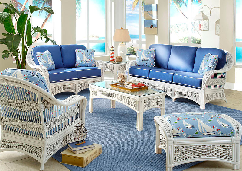6 Piece Fiji Indoor Rattan Furniture Set White