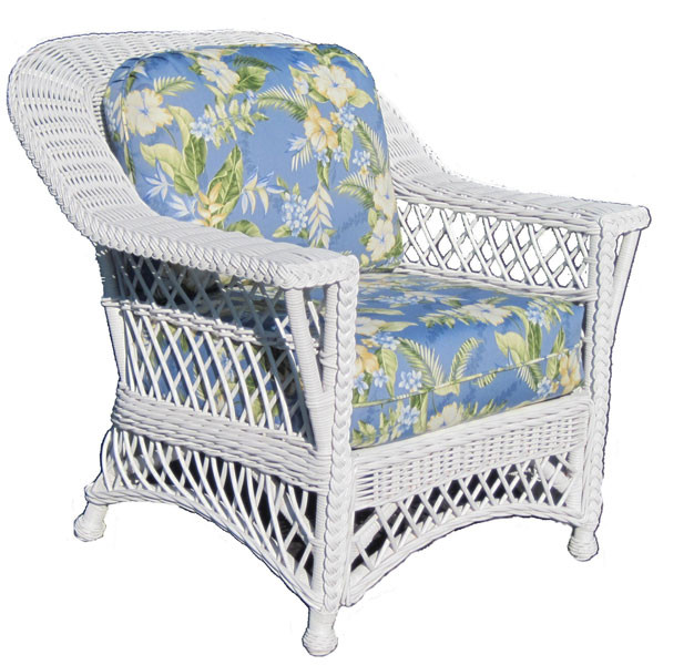Charmant ... Harbor Beach Natural Wicker Lounge Chair   WHITE ...