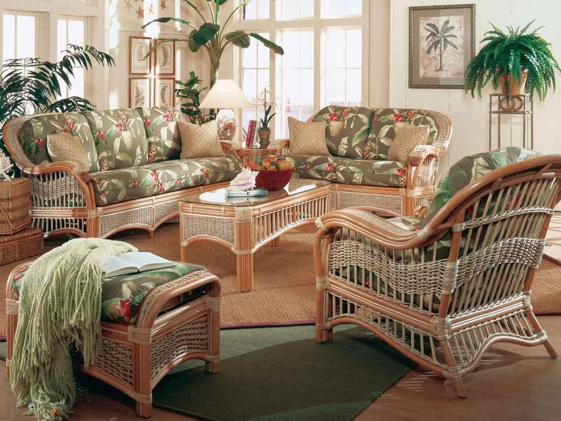 Piece Natural Rattan Wicker Furniture Set Mariner