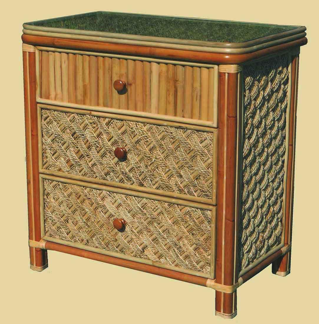 Nassau 3 Drawer Dresser With Glass Top