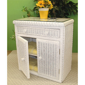 All Purpose Wicker Commode Cabinet