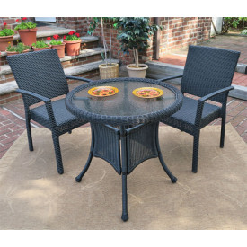 Caribbean 30 Bistro Set (2-Arm Chairs)