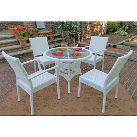 Caribbean 36 Bistro Set (2-Arm 2-Side Chairs)