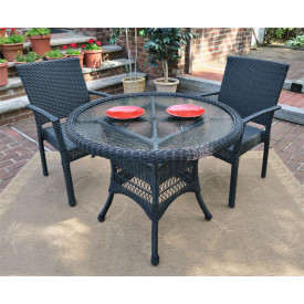 Caribbean 36 Bistro Set (2-Arm Chairs)
