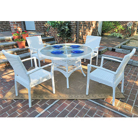 Caribbean 48 Dining Set (4-Arm Chairs)