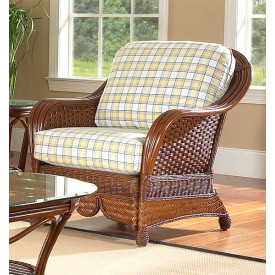 Casa Blanca Rattan Lounge Chair with Cushions