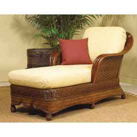 Natural Rattan Chaise Lounge Casa Blanca