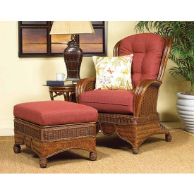 Casa Blanca Rattan Wing Chair with Cushions