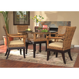 (5) Piece South Beach 48 Round Rattan Dining Set