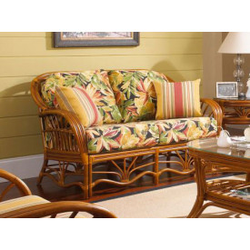 Tahiti  Rattan Loveseat with Cushions