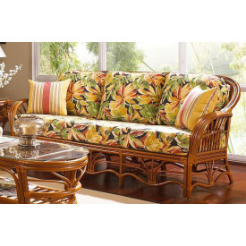 Tahiti Rattan Sofa with Cushions