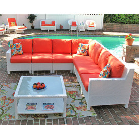Caribbean Sofa-Sofa 7-Piece Sectional without Tables