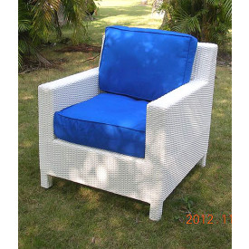 Caribbean Lounge Wicker Chair with Cushions