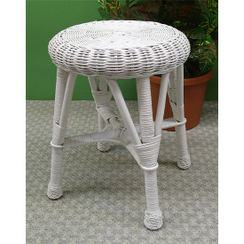 Round Wicker Utility Stool