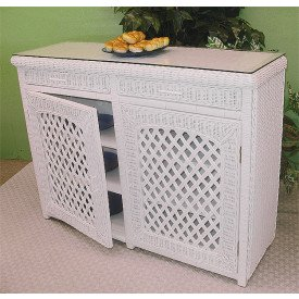 Buffet Lattice Wicker Cabinet