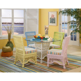 5 Piece Capri Wicker Dining Set
