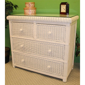 Pavilion 4-Drawer Wicker Dresser
