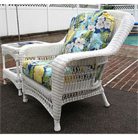 Palm Springs Resin Wicker Chair with Cushions