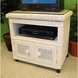 Pavilion Wicker Swivel TV Stand