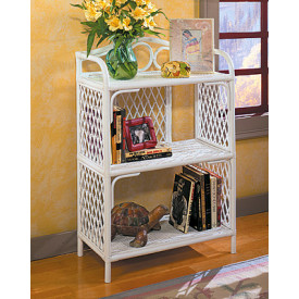 Pole Rattan 3-Tier Bookcase