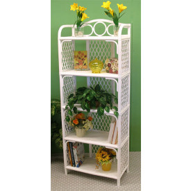 Pole Rattan 5 Tier Book Shelf