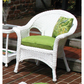 Sunbrella Fabric Wicker Chair Cushion