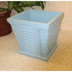 Shutter Wood lined Waste Basket