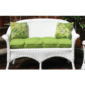 Sunbrella Fabric Wicker Loveseat Cushion