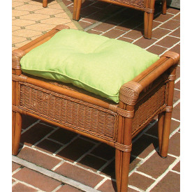 Sunbrella Fabric Wicker Ottoman Cushion