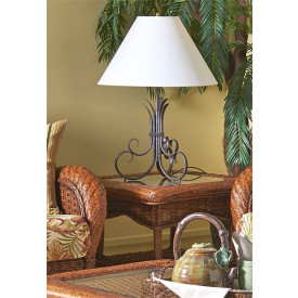 Autumn Morning Rattan End Table