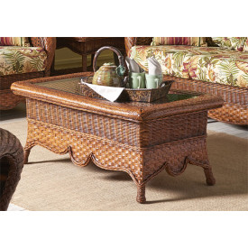 Autumn Morning Rattan Cocktail Table