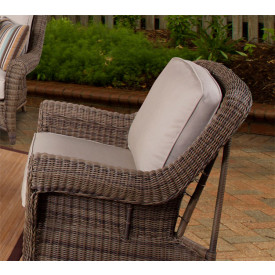 Avignon Outdoor Wicker Lounge Chair with Cushions