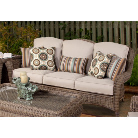 Avignon Outdoor Wicker Sofa with Cushions