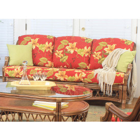 Bordeaux Rattan Sofa with Cushions