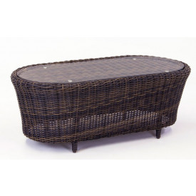 Coral Reef All Weather Resin Wicker  Cocktail Table