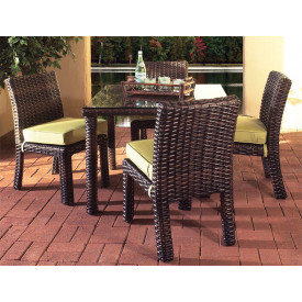 (5) Pc St. Croix Square Resin Wicker Dining Set