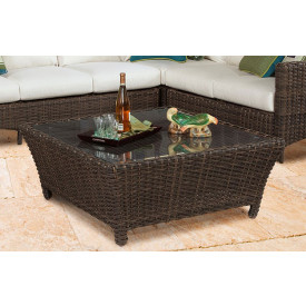 San Remo Resin Wicker Cocktail Table