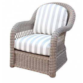 Basket Weave Lounge Chair with Cushions