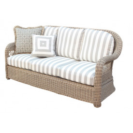 Basket Weave Sofa with Cushions