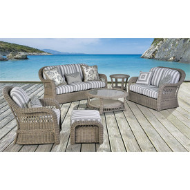(5) Piece Basket Weave Seating Group