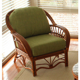 Tahiti Rattan Lounge Wicker Chair with Cushions