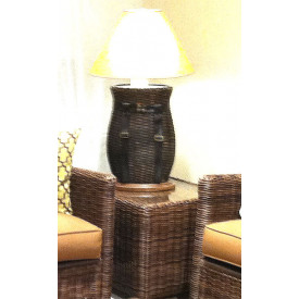 Vero Beach End Table with Glass Top