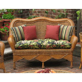 Tangiers Wicker Loveseat with Cushion