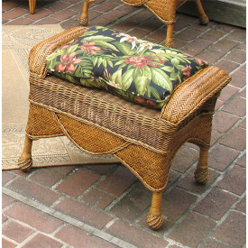 Tangiers Wicker Bench/Ottoman