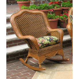 Tangiers Wicker Rocker with Cushion