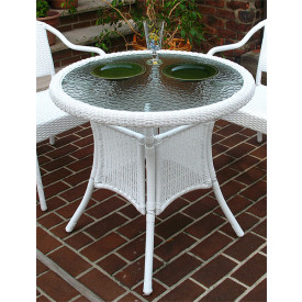 Resin Wicker Bistro Dining Table 30 Round